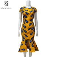 Quality Ankara Fishtail African Print Dresses , Traditional African Women's Clothing wholesale