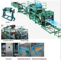 China 32KW 380v Sandwich Panel Production Line Foam Composite Board Roll Forming Machine With PLC Control on sale