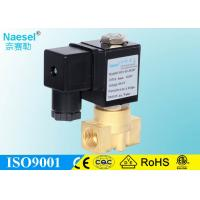 China ASCO Red Hat Direct Acting Solenoid Valve Replaceable Brass Water Solenoid Valve on sale