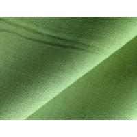 Cheap Green Yellow Dyed Fabric Cloth Linen Cotton Blend for Short Trousers / Skirts / Pillows for sale
