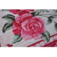Cheap Flower Printed Warm 100% Polyester Blanket / 2 Ply Blanket With Novelty Pattern for sale