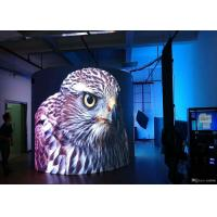Cheap Full Color Rubber Module Soft Led Screen , Flexible Led Panel Video Screen IP 40 for sale