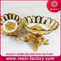 China Polyresin Resin Souvenir goldplated fruit bowl on sale