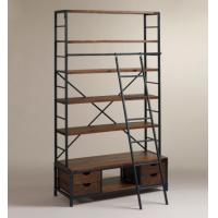 Cheap Four Layers Adjustable Metal Book Shelf Antique Eco - Friendly With Ladder for sale