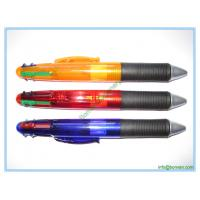 Cheap plastic multi-color pen,four color ink ball pen for sale