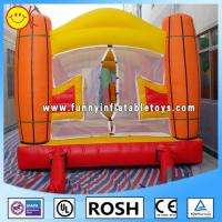 Cheap 0.55mm PVC Tarpaulin Inflatable Sports Games Orange / Yellow for sale