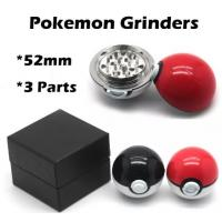 Cheap Pokemon Grinder for Spices, Herbs, Tobacco. 55mm 2.2inch Aluminum very hot salrs Pokeball grinder Pokemon Herb Grinder for sale