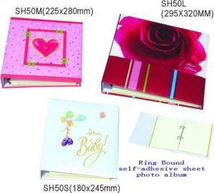 China Ring bound self-adhesive photo album on sale