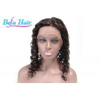 Cheap Black Women Red / Blue Human Hair Lace Front Wigs Without Tangle / Shedding for sale