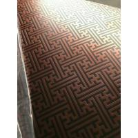 Cheap 304 Hairline Bronze Stainless Steel Plate Copper Plating Sheet Brass Color for sale