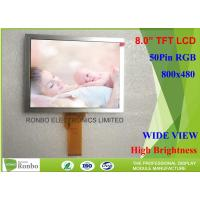 High Brightness 8 Inch Tft Display , EJ080NA-05B 50 Pin TFT LCD Panel 800 X 600 Resolution