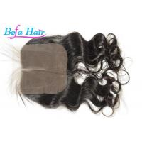 Cheap Malaysian 100% Virgin Human Hair Closure With Baby Hair 1b# 2# 4# for sale