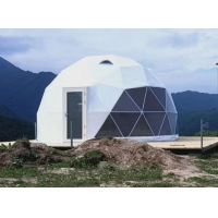 Cheap 100km/H Wind Load 30M Waterproof PVC Geodesic Dome Tent for sale