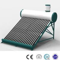 Quality non pressure 200liter compact solar hot water heater with solar vacuum tubes wholesale