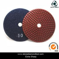 Cheap velcro backed wet stone diamond polishing pads/marble abrasive tools for sale