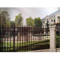 China Outdoor Villa Fence Hot Dipped Galvanized Steel Top Vertical Bar With Spike on sale