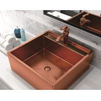 China 20 Inch Stainless Steel Vessel Sinks , Bathroom Sink Vanity Unit With Pop - Up Drain on sale
