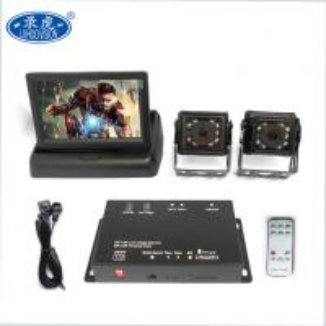 Cheap Portable 2 Channel Car DVR / Remote Control Mobile Digital Video Recorder for sale