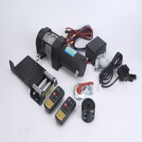 Buy cheap Portable electric steel cable tow trailer ATV winch with wireless remote control from wholesalers