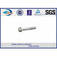 Cheap DIN931 / 933 Hot Dip Galvanized Railway Bolt 8.8 Grade 45# Steel for sale