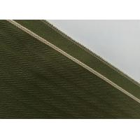 Cheap Woven Army Green Herringbone Flannel Fabric , 12.4oz Denim Raw Material For Jeans for sale