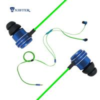 Buy cheap Xibter Noodles Green Cable Game Earphone Deep Bass Stereo 3.5mm In Ear Headphone With Inline Microphone For Cellphone PC from wholesalers
