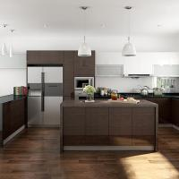 Interior Assembled Wood Veneer Kitchen Cabinets Particle
