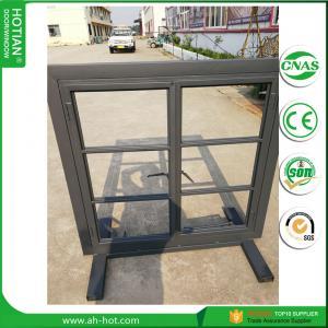 Quality Latest modern house swing glass steel windows burglar proof iron window grill design for sale