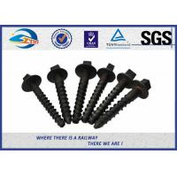 Quality Black painting Track Railway Sleeper Fixing Screws With Washers wholesale