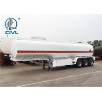 China 45 M3 Three Axles Oil Tank Small Semi Trailer Trucks With 2 Apartments And Triangle Tire on sale