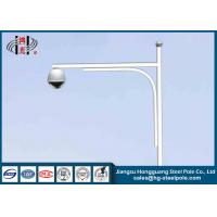Cheap Powder Coated Galvanized CCTV Camera Posts for Security / Traffic Surveillance for sale