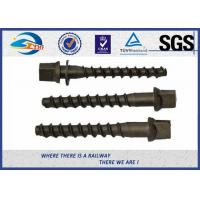 Cheap High Hardness Oxide Black 8.8 Grade Railway Sleeper Screws DIN Standard for sale