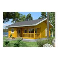 China Solid Summer Outdoor Wooden House 2-Bedroom Waterproof With Base Timber & Roofing on sale