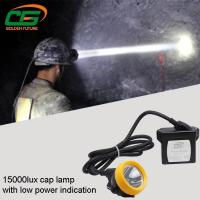 Cheap Safety 1w Led Mining Cap Lamp Rechargeable 15000lux High Brightness for sale