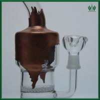Quality Copper Plating Glass Water Bongs 9 Inches Universal With Cross - Crystal wholesale
