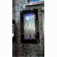 Cheap Black Glass Mirror Vertical Wall Fountain for Outdoor and Indoor Use for sale