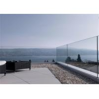 China Frameless Glass Railing Aluminum U Channel Base Glass Balcony Railing on sale