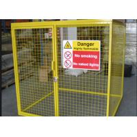 Cheap Galvanized Steel Tube Gas Cylinder Cages High Security 900*1000*500mm for sale