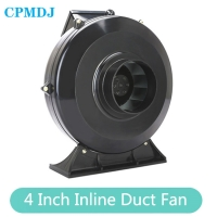China 4 Inch Inline Ducted Fan Customized Industrial Centrifugal Elevator Exhaust Fan Inline Fan Flexible Exhaust Fan Blower on sale