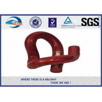 Cheap Red Paint PR Type 38Si7 Steel  Railway Elastic Clip For Vossloh Railway Fastening System for sale