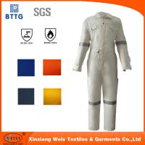 Cheap 2016 white EN11612 100% Cotton fire retardant workwear coverall for sale