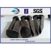 Quality AREMA 4.8 Grade Dog Railroad Track Spikes With Plain Finished wholesale