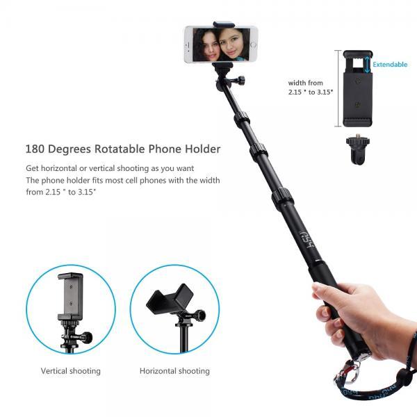gopro smartphone dslr camera selfie stick hsu 3 section telescopic exte. Black Bedroom Furniture Sets. Home Design Ideas
