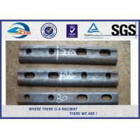 Cheap Oiled / Oxide Black Rail Joint Bar / Fishplates With GB Standard for sale
