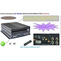Cheap Car vehicle DVR syetem 4 channels HDD realtime recording Supports 3G 4g wifi GPS for sale