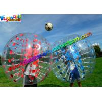 Cheap Colorful TPU Inflatable Bumper Ball , Zorb Bubble Soccer Ball For Humans for sale