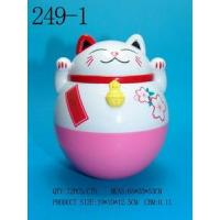 China Roly-poly Lucky Cat Money bank on sale