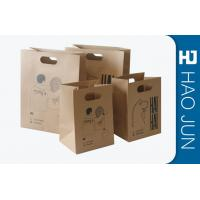 Cheap Professional Kraft Paper Gift Bags With Handles , Matt Lamination for sale