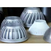 Cheap Die casted parts with powder coating for lamp parts. Silver and white powder coating. for sale