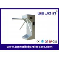 Cheap Subway Station Electric Double Turnstile Mechanism , Vertical Type for sale
